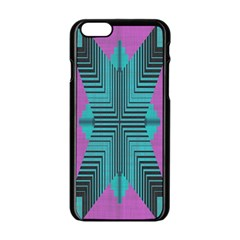 Tribal Purple Rhombus Apple Iphone 6 Black Enamel Case by LalyLauraFLM