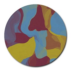 Watercolors Round Mousepad by LalyLauraFLM