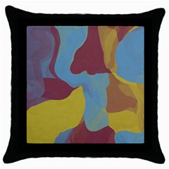 Watercolors Throw Pillow Case (black) by LalyLauraFLM