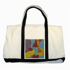 Watercolors Two Tone Tote Bag by LalyLauraFLM