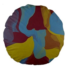 Watercolors Large 18  Premium Round Cushion  by LalyLauraFLM