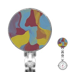 Watercolors Stainless Steel Nurses Watch by LalyLauraFLM