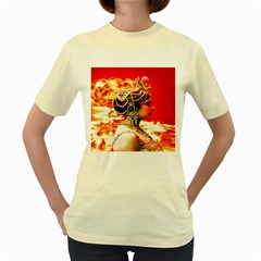 Mata Hari Women s Yellow T Shirt by icarusismartdesigns