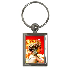 Mata Hari Key Chain (rectangle) by icarusismartdesigns