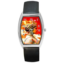 Mata Hari Barrel Style Metal Watch by icarusismartdesigns