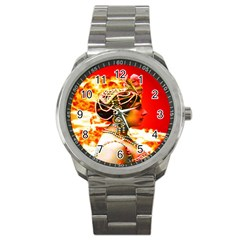 Mata Hari Sport Metal Watch by icarusismartdesigns