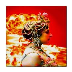 Mata Hari Face Towel by icarusismartdesigns