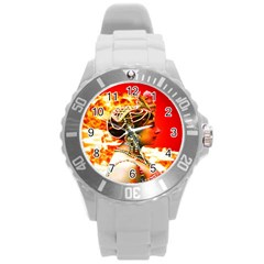 Mata Hari Round Plastic Sport Watch Large by icarusismartdesigns