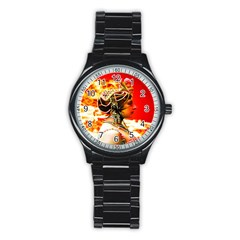 Mata Hari Men s Stainless Steel Round Dial Analog Watch by icarusismartdesigns