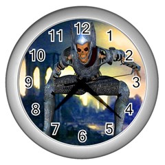 Wasteland Wall Clock (silver) by icarusismartdesigns
