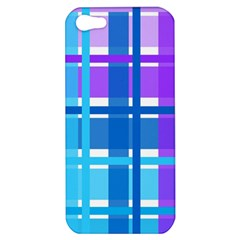 Blue & Purple Gingham Plaid Apple Iphone 5 Hardshell Case by StuffOrSomething