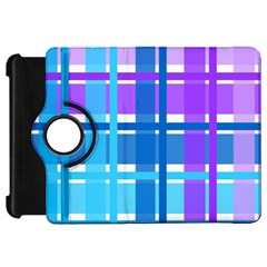 Blue & Purple Gingham Plaid Kindle Fire Hd Flip 360 Case by StuffOrSomething