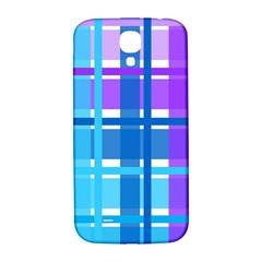 Blue & Purple Gingham Plaid Samsung Galaxy S4 I9500/i9505  Hardshell Back Case by StuffOrSomething