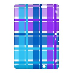 Blue & Purple Gingham Plaid Kindle Fire Hdx 8 9  Hardshell Case by StuffOrSomething