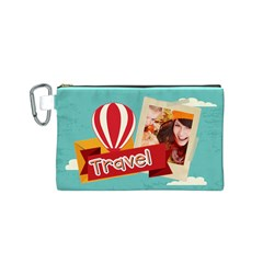 Travel By Travel   Canvas Cosmetic Bag (small)   T6690036l0nn   Www Artscow Com Front
