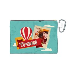 Travel By Travel   Canvas Cosmetic Bag (medium)   Jk5ooxb99g98   Www Artscow Com Back