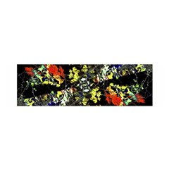 Floral Collage Print Satin Scarf (oblong) by dflcprintsclothing