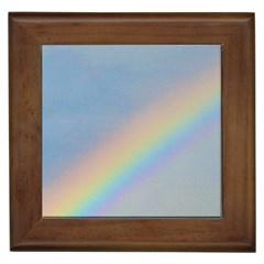 Rainbow Framed Ceramic Tile by yoursparklingshop