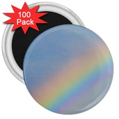 Rainbow 3  Button Magnet (100 Pack) by yoursparklingshop