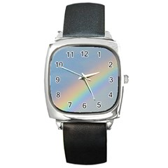 Rainbow Square Leather Watch