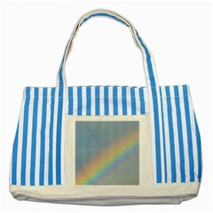 Rainbow Blue Striped Tote Bag by yoursparklingshop