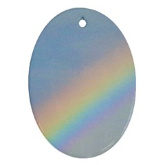 Rainbow Oval Ornament (two Sides)