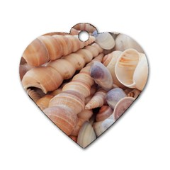Seashells 3000 4000 Dog Tag Heart (one Sided)  by yoursparklingshop