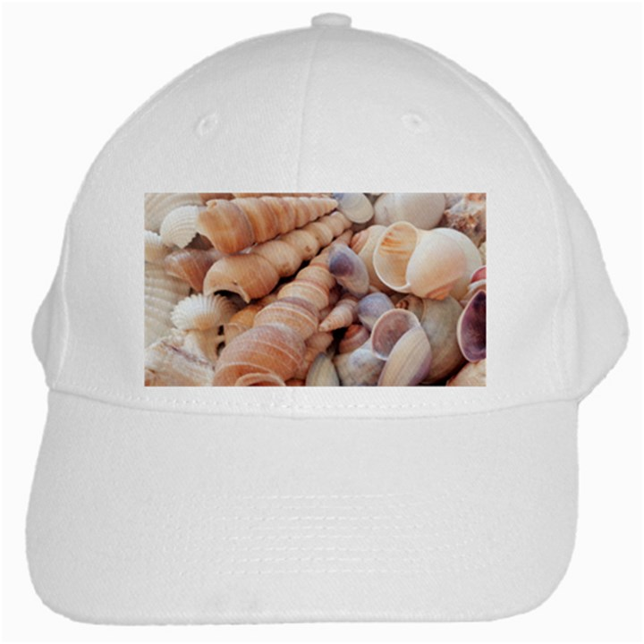 Sea Shells White Baseball Cap