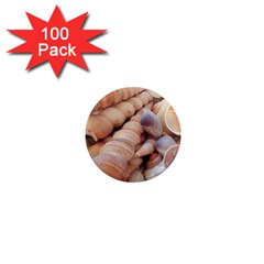 Sea Shells 1  Mini Button Magnet (100 Pack) by yoursparklingshop