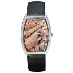 Sea Shells Tonneau Leather Watch by yoursparklingshop