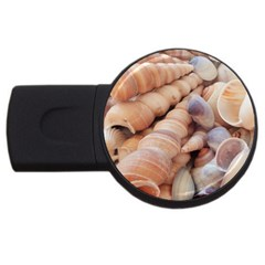 Sea Shells 4GB USB Flash Drive (Round) by yoursparklingshop