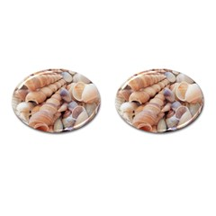 Sea Shells Cufflinks (oval) by yoursparklingshop