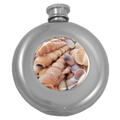 Sea Shells Hip Flask (round) by yoursparklingshop