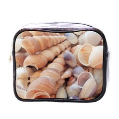 Sea Shells Mini Travel Toiletry Bag (one Side) by yoursparklingshop