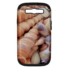 Sea Shells Samsung Galaxy S Iii Hardshell Case (pc+silicone) by yoursparklingshop