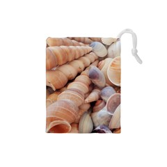 Sea Shells Drawstring Pouch (small)