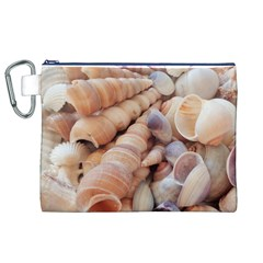Sea Shells Canvas Cosmetic Bag (xl) by yoursparklingshop