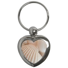 Sunny White Seashells Key Chain (heart)