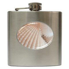 Sunny White Seashells Hip Flask