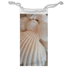Sunny White Seashells Jewelry Bag