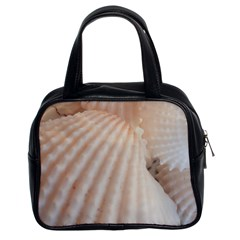 Sunny White Seashells Classic Handbag (two Sides) by yoursparklingshop