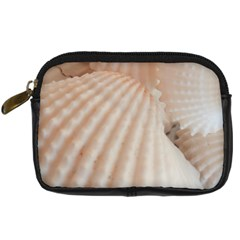 Sunny White Seashells Digital Camera Leather Case by yoursparklingshop