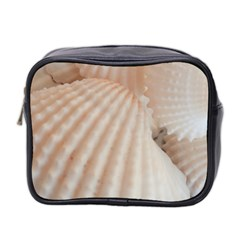 Sunny White Seashells Mini Travel Toiletry Bag (two Sides) by yoursparklingshop