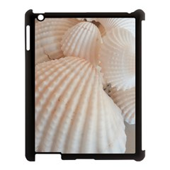 Sunny White Seashells Apple Ipad 3/4 Case (black) by yoursparklingshop