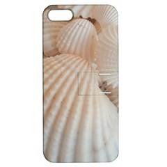 Sunny White Seashells Apple Iphone 5 Hardshell Case With Stand by yoursparklingshop