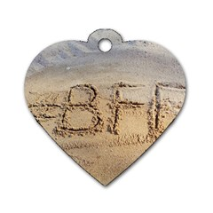#bff Dog Tag Heart (one Sided)