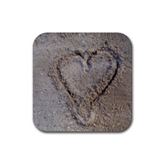 Heart In The Sand Drink Coasters 4 Pack (square)
