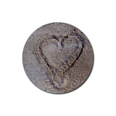 Heart In The Sand Drink Coasters 4 Pack (round)