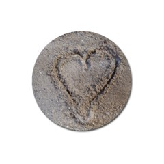 Heart In The Sand Magnet 3  (round) by yoursparklingshop
