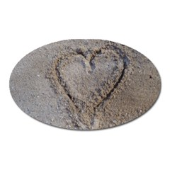 Heart In The Sand Magnet (oval) by yoursparklingshop